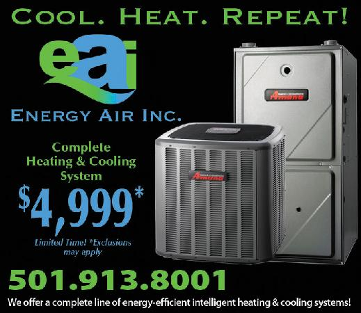 Cool heat repeat complete heating and cooling system